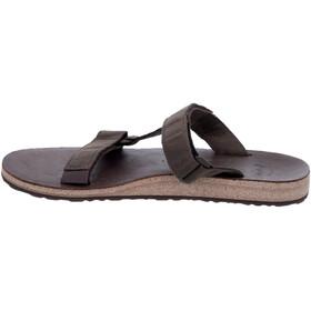 Teva Universal Slide Leather Sandals Men brown
